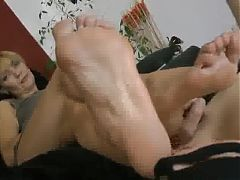 Leggy Mature Foot Worship