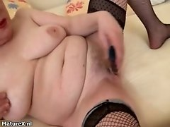 Dirty Mature Bitch Gets Horny Rubbing And Dildo Fucking