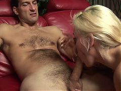 Busty MILF Gets Her Pussy Licked Before Hunk Bangs Her