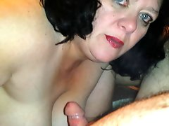 Real Homemade Cum Slut Wife Facials Iii