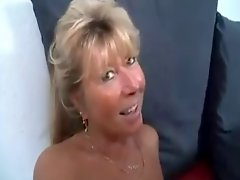 Blonde Mature Casting A Teen To Fuck One Man