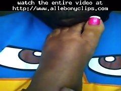 Black Toes Getting Sucked Black Ebony Cumshots Ebony S