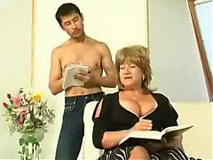 Old Russian Mum Gets Her Self An Asian Boy For Lunch