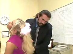 Tiny Titted Blonde Schoolgirl Teen Fucks The Teacher