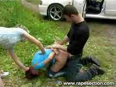 Brunette Fucked Next To Car Part 2