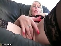 Horny Mature Wife Giving A Masturbation Show To Her Gir