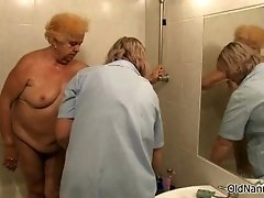 Dirty Blonde Mature Woman Gets Her Ass And Cunt Rubbed