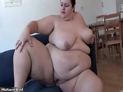 Very Busty Woman Penetrates Her Fat And Wet Pussy Deep