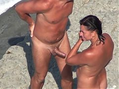 Nude Beach Mature Mmf Threesome On The Shore