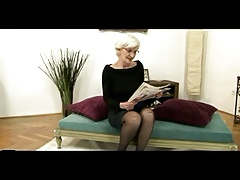 Grey Haired Granny Gets Creampie