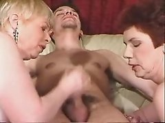 Two Grannies Enjoy Young Meat