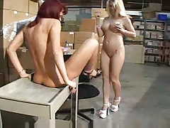Mature And Younger Women In The Warehouse F70