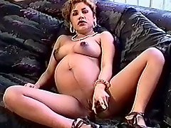 Pregnant Latina Milks Herself Then Gives Head