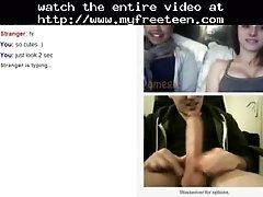 2 Girls Shocked Of Huge Cock On Omegle Teen Amateur Tee