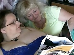 Horny Granny Loves Having Lesbian Sex With A BBW Mature