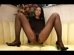 Hip Of A Sexy Mature Woman With Panty Stokings