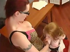 Ms Berlin Fucks Redhead With Strap On
