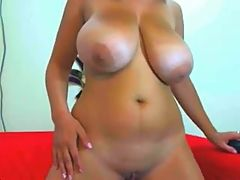 Busty Latina Getting Sexy On Webcam