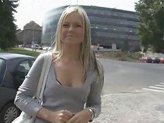Angelic Girl Jerks A Stranger In The Street