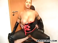 Busty Amateur MILF Domination Fuck With Cum On Tits