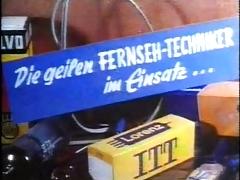 Vintage 70s German Die Geilen Fernseh Techniker Cc79