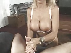 Busty Mature Blonde Loves His Young Cock