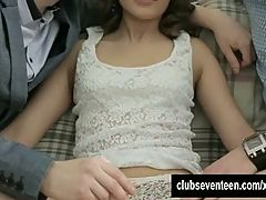 Small Titted Teen Yulia Gets Double Fucked