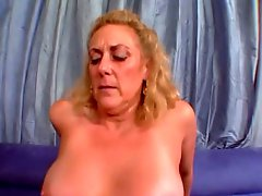 Granny Horny Pussy Loves Huge Cocks