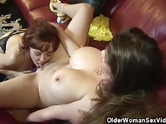 Mature Babes June And Vanessa Get It On