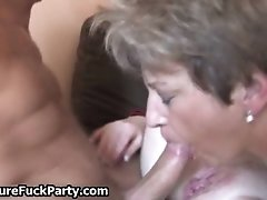 Two Old And Horny Ladies Getting Fucked Hard By A Sexy