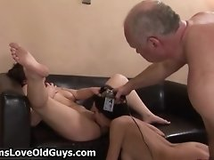 Two Cute Teen Girls Getting Their Tight Pussy Licked By
