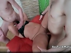 Awesome Threesome By Big Beautiful Woman And Two Young