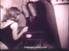 Three Women Spanking Each Other With Paddles 1960s Vintage