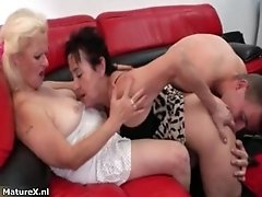 Nasty Mature Whores Go Crazy Sharing An Hard Cock In A