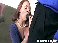 Janet Mason Fucks Two Huge Black Cocks