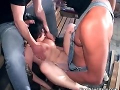 Filthy Horny Brunette Hoe Giving Head And Getting Fucke
