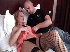Nasty Brunette Slut Gets Horny Getting Her Tits Rubbed