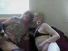 Mature Crossdressers In Threesome Copulation