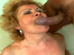 Granny Fucks And Gets A Mouthful Of Cum