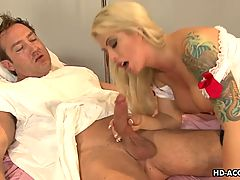 Stunning Mature Nurse Rides Her Patients Big Hard Cock
