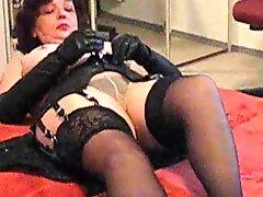 Inge With Stockings Over Pantyhose Amp Thong
