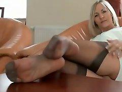 Sensual Ladys Nylon Legs N Feet