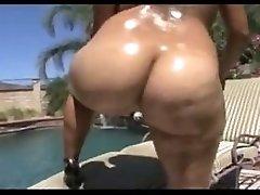 Phat Booty Latina Challenging A Big Black Dick