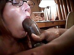 Austin Gags On Black Cock