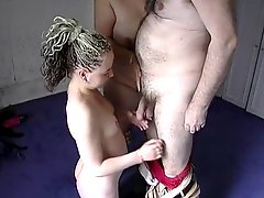Older And Fat Couple Have A Threesome With Young Girl