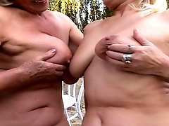 Lesbian Grannies Fucking Outdoors