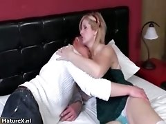 Horny Mature Blonde Woman Goes Crazy Getting Her Wet Cu