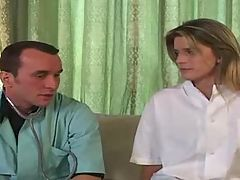 French Doctor Gives Blonde A Shot In The Ass