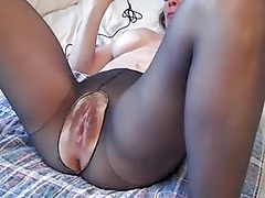 Hairy Mature Pussy Gets Wet While Toyed