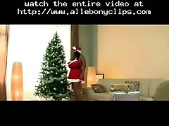 Belated Santa S Little Helper Black Ebony Cumshots E